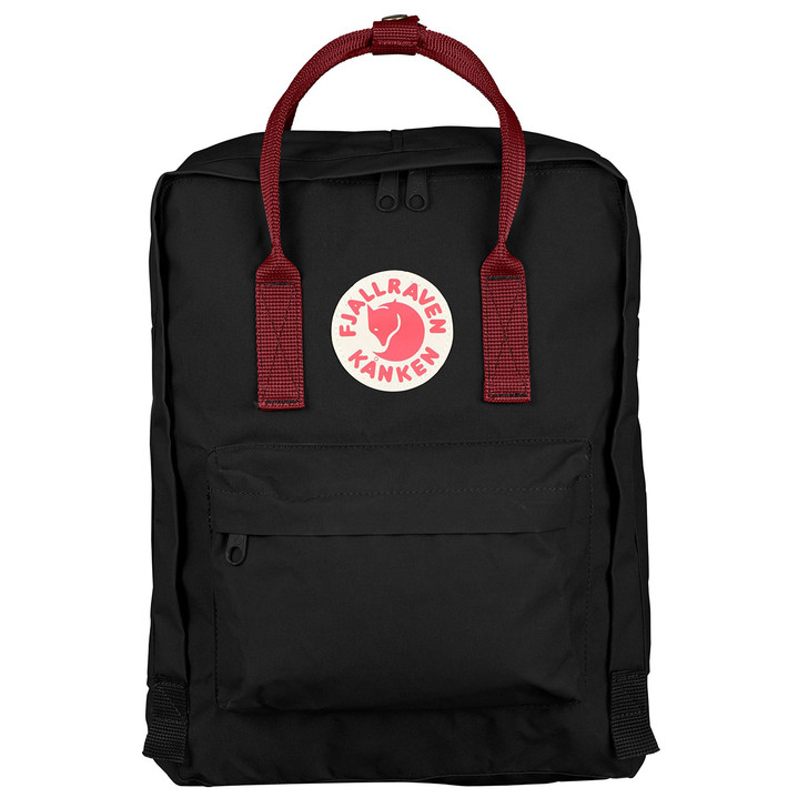 Fjallraven - Kanken Backpack - Black-Ox Red