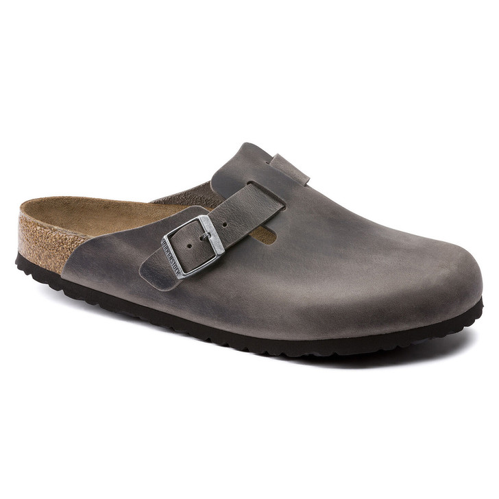 Birkenstock - Boston Clog Soft Footbed - Iron Oiled Leather