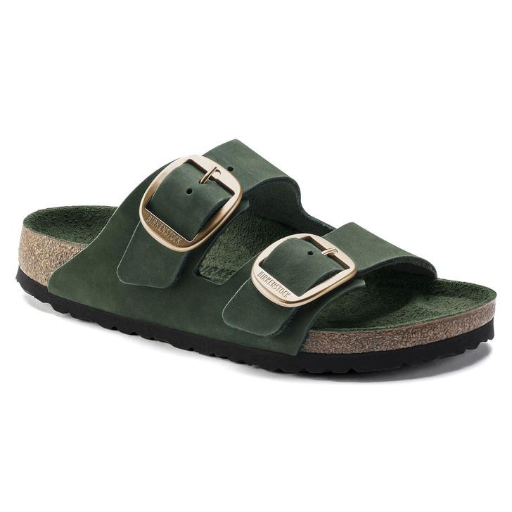 Birkenstock - Arizona Big Buckle Sandal - Mountain View Green Leather