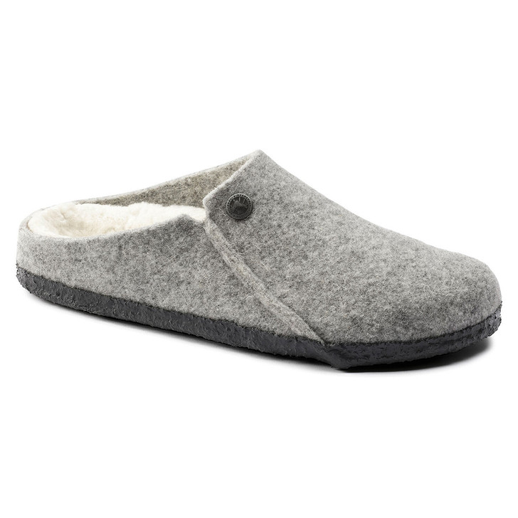 Birkenstock - Zermatt Wool/Shearling Clog - Light Gray
