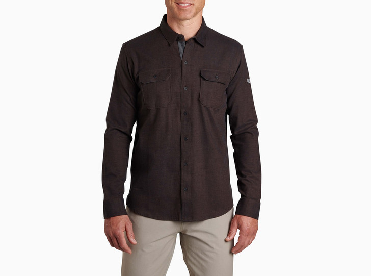 Kuhl - Descendr Flannel LS Shirt - Black Coffee