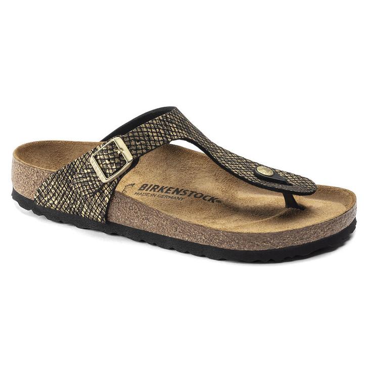 Birkenstock - Gizeh Sandal - Shiny Python Black Micro Fiber