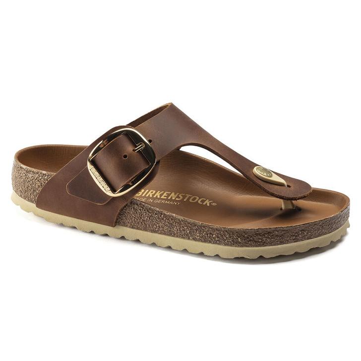 Birkenstock - Gizeh Big Buckle Sandal - Cognac leather