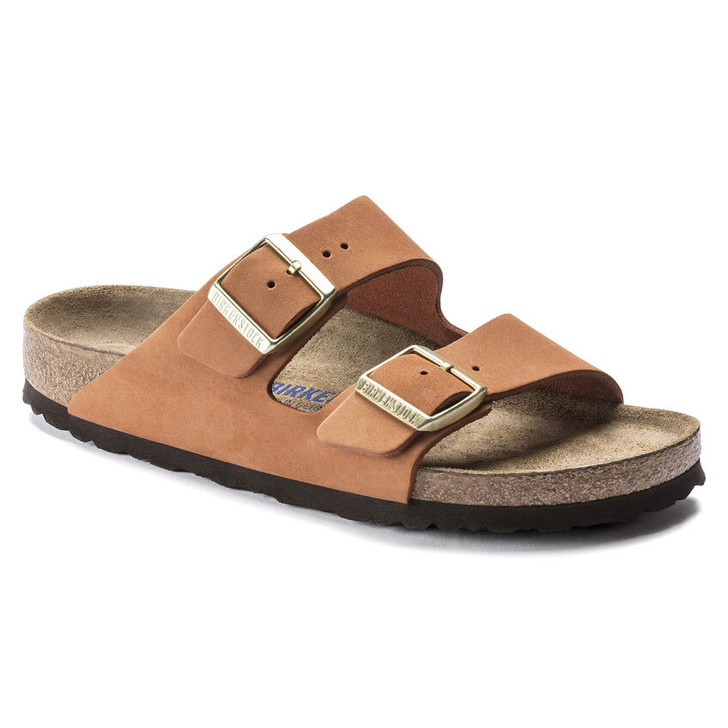 Birkenstock - Arizona Soft FootBed - Pecan Nubuck Leather