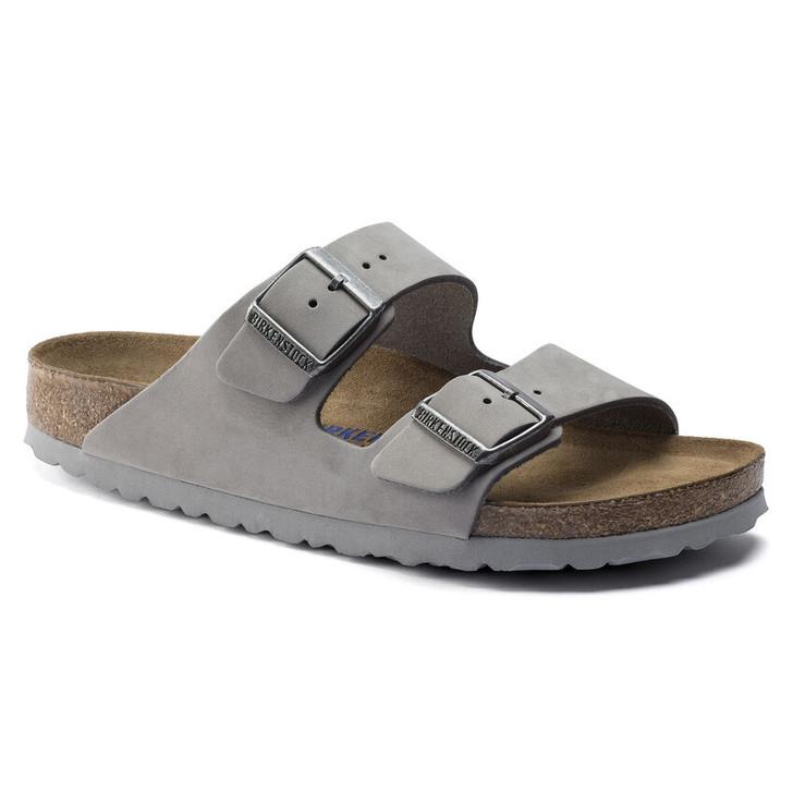 Birkenstock - Arizona Soft FootBed - Dove Grey Nubuck Leather