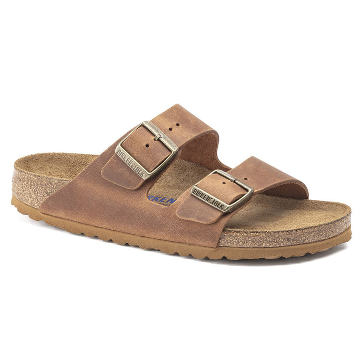 Birkenstock - Arizona Soft Footbed - Cognac Oiled Leather