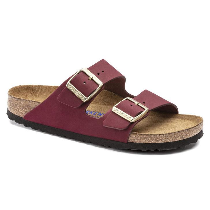 Birkenstock - Arizona Soft FootBed - Maroon Nubuck Leather