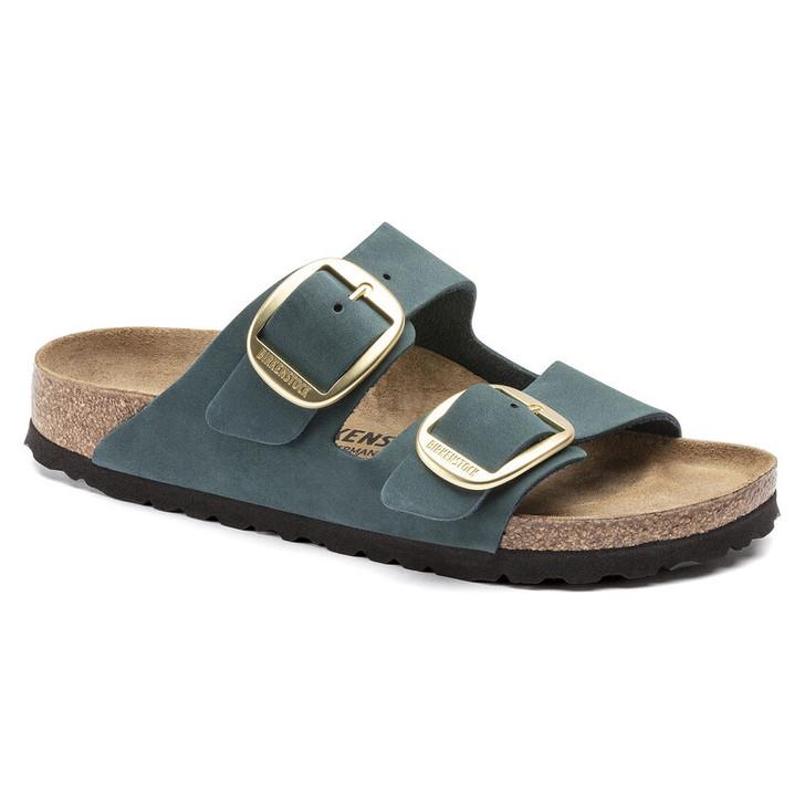 Birkenstock - Arizona Soft FootBed - Dark Teal Nubuck Leather