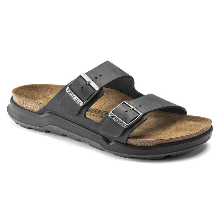 Birkenstock - Arizona Rugged Sandal - Black Oiled Leather