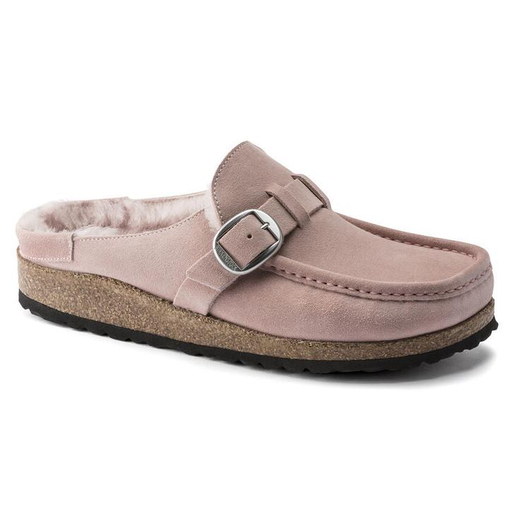 Birkenstock - Buckley Shearling Clog - Soft Pink Suede Leather