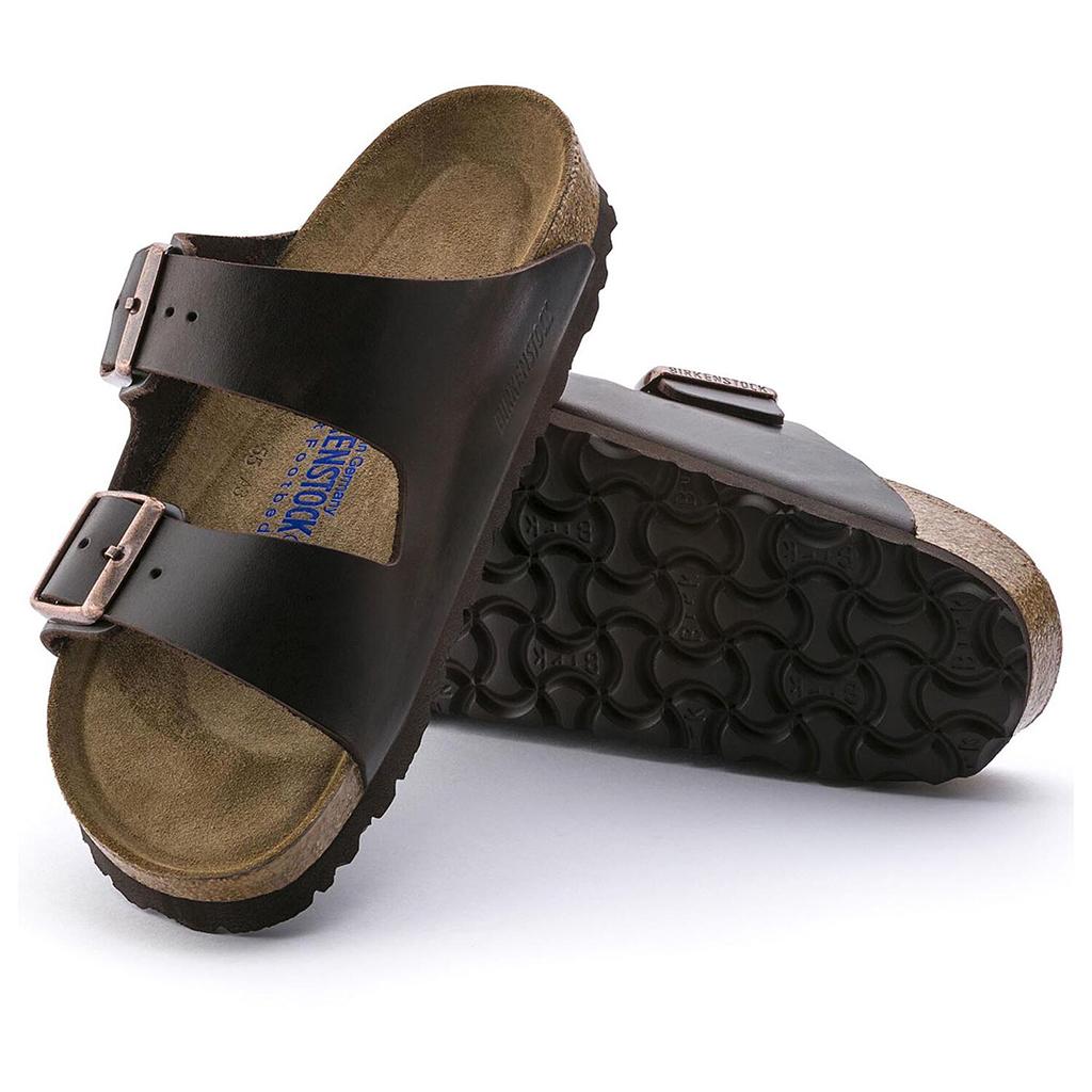 Birkenstock - Arizona Sandal - Soft Footbed - Brown Amalfi Leather