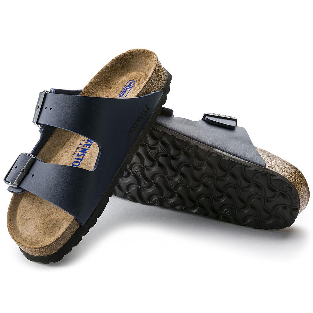 Birkenstock - Arizona Sandal - Soft Footbed - Navy Birko Flor