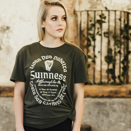 Guinness Kaki Green Label Tea Shirt
