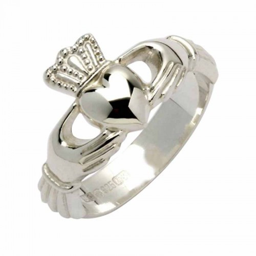 Product Details   Irish Made Sterling Silver Claddagh Ring. Its origin goes back to the 16th Century when Richard Joyce made the first ring for his wife in honour of her Love, Loyalty and Friendship. A tradition evolved if you wear the ring with the crown nearest the fingernail it indicates that your Heart is taken - if the heart points to the fingernail it means your Heart is Free. -    Traditional Irish Claddagh Design -    Symbol of Love, Loyalty and Friendship