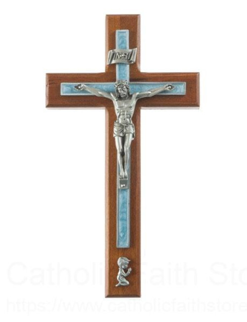 "8"" Cherry Wood Boys Crucifix"