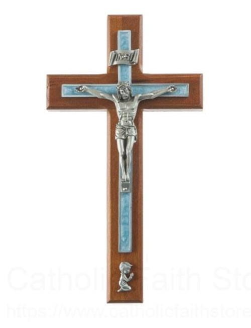 "8"" Cherry Wood Boys Crucifix"