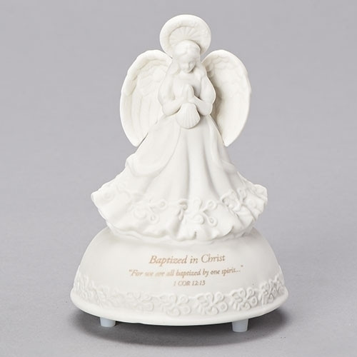 Baptism Angel Music Box