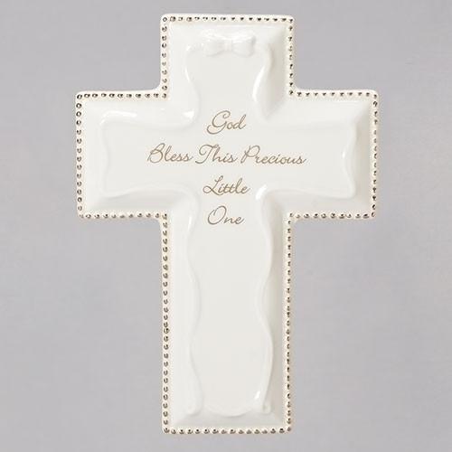 """White God Bless Cross 6 """""""