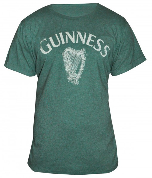 Guinness Green Heathered Harp Tee