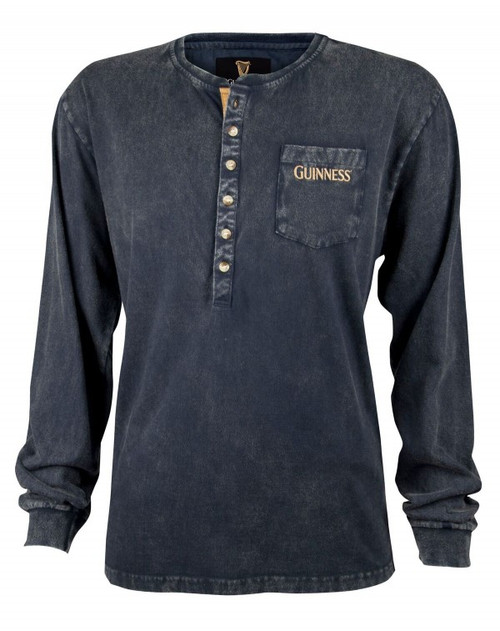 Guinness Classic Washed Henley Shirt