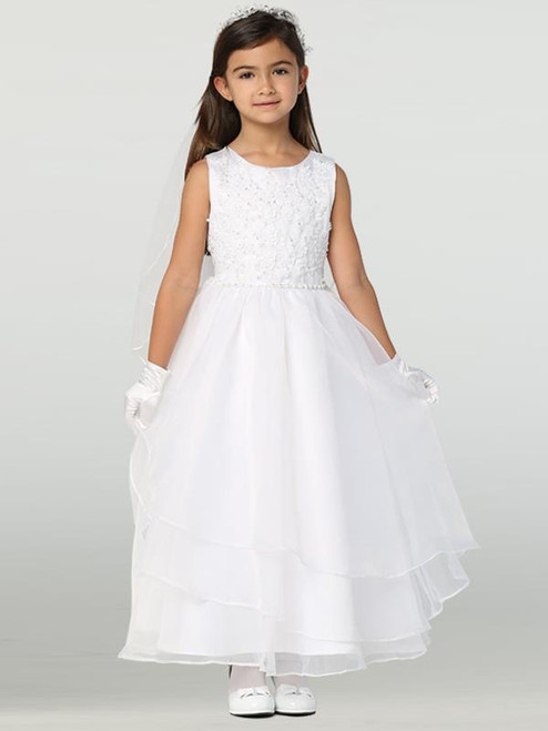 Lito Lace Bodice with layered skirt First Communion Dress