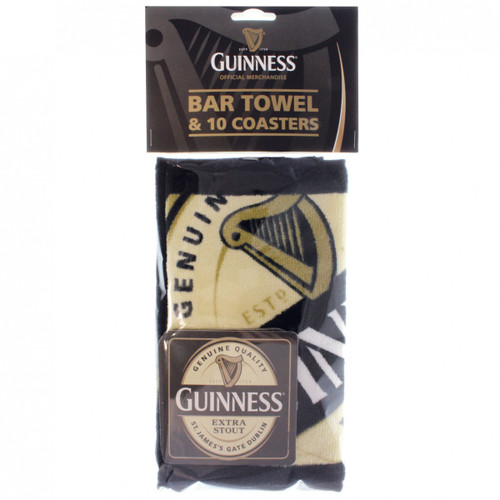 Guinness Bar Towel & (10) Coasters