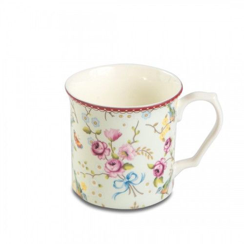 Shannonbridge Pottery Bird And Blossom Tankard Mug