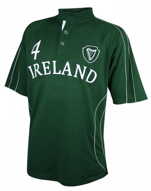 Croker Green Piping Ireland Rugby Shirt