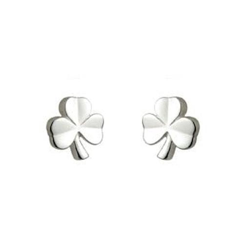 Solvar Childrens Shamrock Earrings s/s