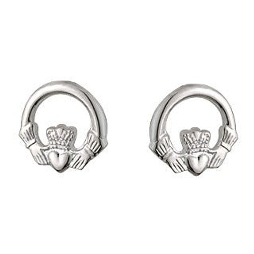Solvar Childrens Claddagh Earrings s/s