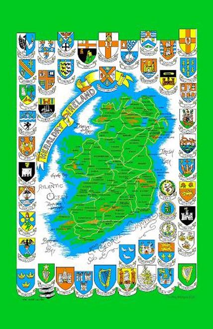 Tea Towel Map Of Ireland