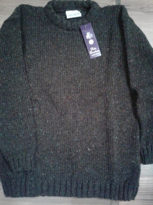 Rita Condron Hand Loomed Irish Wool Crew Sweater