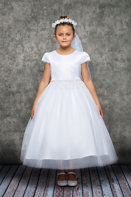 KD460  Chandetier Trim First Communion Dress