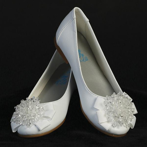 XANNA  Flats with crystal bead bow