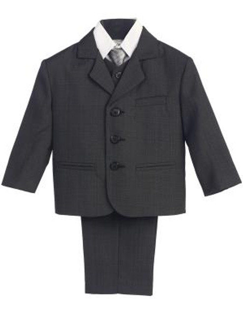 L3710 Charcoal  Boys First Communion 5 PIece Suit