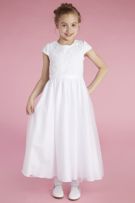 LM22065 Lauren Marie First Communion Dress Lace