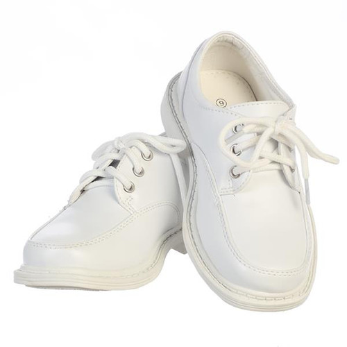 X-LDAV Boys White Lace up Matte Shoes