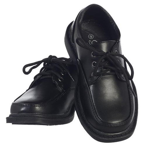 X-LDAV Boys Black Lace up Matte Shoes