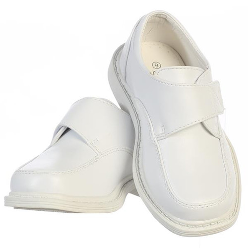 X-LFRA  Boys White Matte Shoes with Velcro