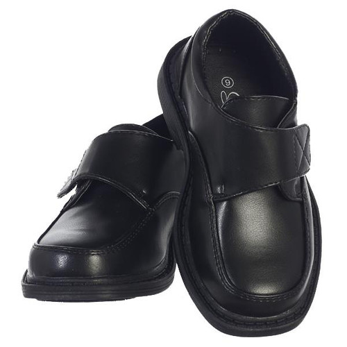 X-LFRA Boy's black matte shoes with velcro