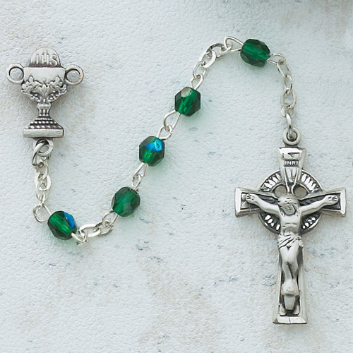 Rosary, First Communion Green Irish Design