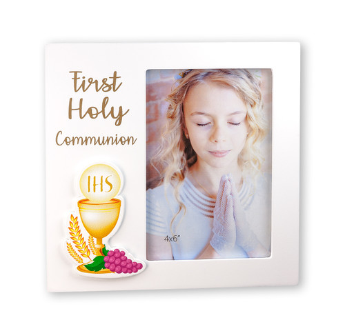 First Communion White MDF Photo Frame 4x6