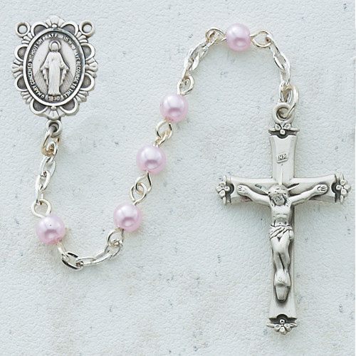 Rosary - 5MM Pink Pearl C2RW