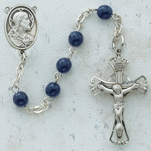 Rosary -Blue Glass Bead