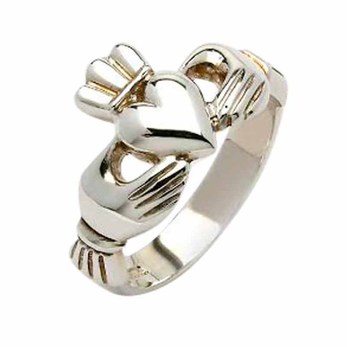 Mens Sterling Silver  Claddagh Ring