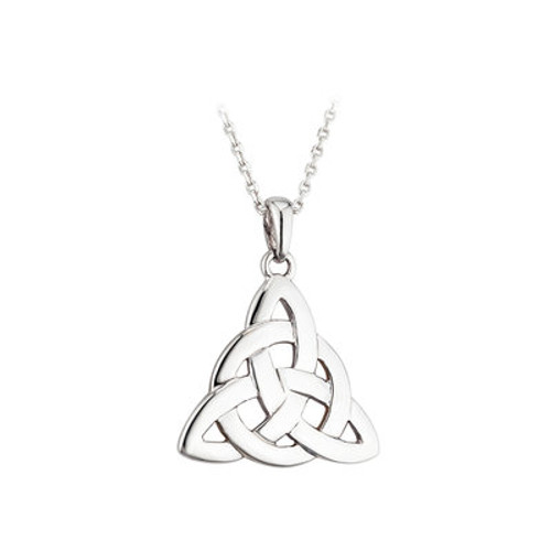 Trinity Circle Knot Sterling Silver  Pendant