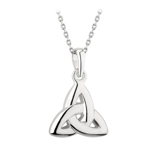 Trinity Knot Sterling Silver Double Sided Pendant