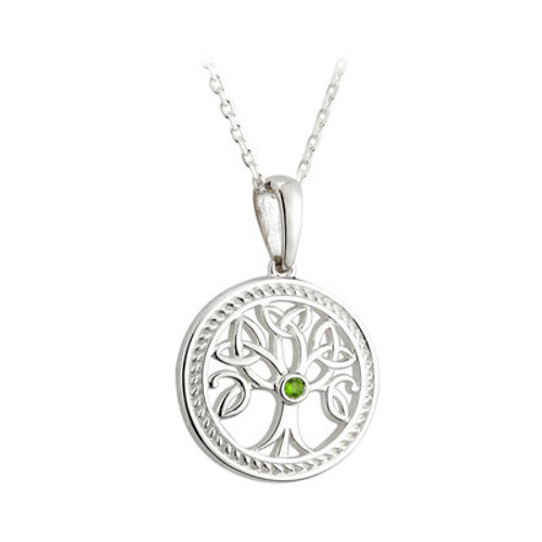 Tree of Life Small Sterling Silver Pendant