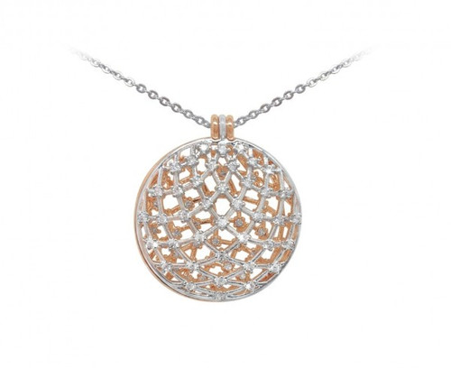 Bailey and Brook Silver and Rose Gold Domed Pendant