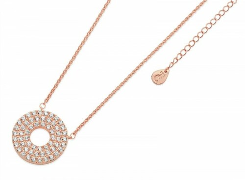 Bailey and Brooke Pave Triple Band Moon Pendant